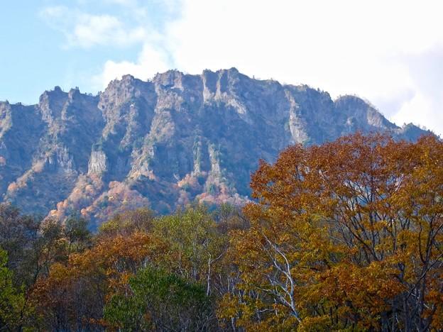 紅葉と戸隠山