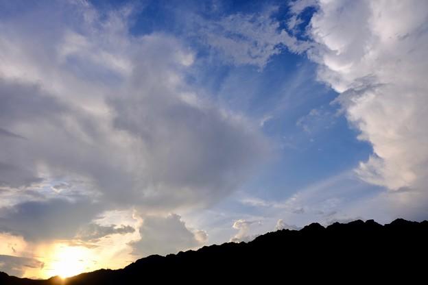日没直前の西岳