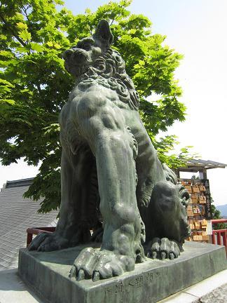 Photos: 御岳神社の狛犬