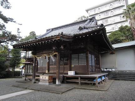 湯前神社の本堂