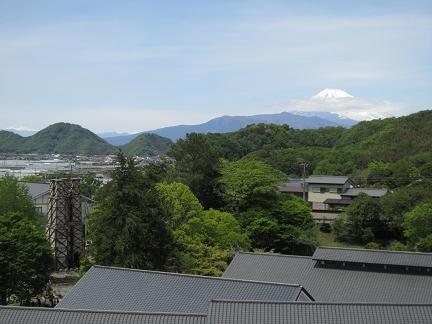 反射炉と富士山