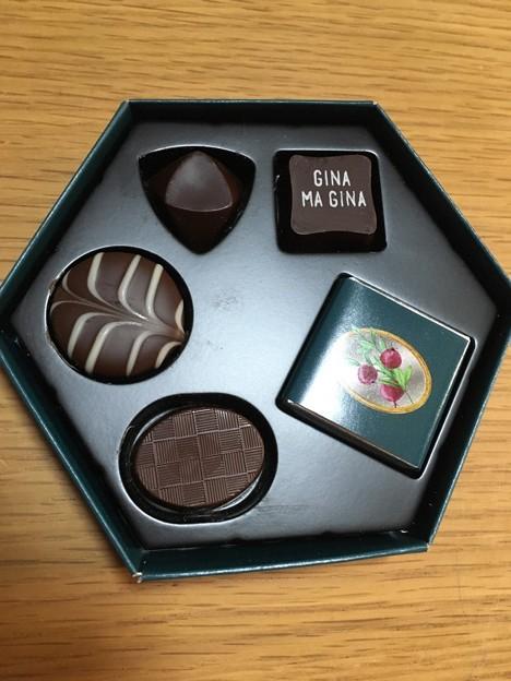 5種類のチョコ