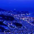 写真: 天狗山から/小樽夕景