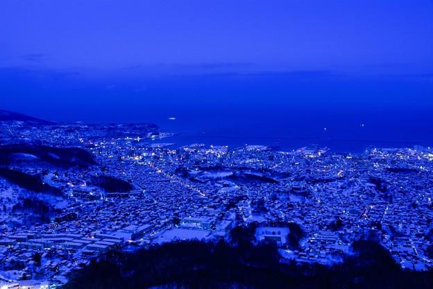 小樽夕景・冬