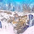 Photos: 浅春のアシリベツ/氷瀑