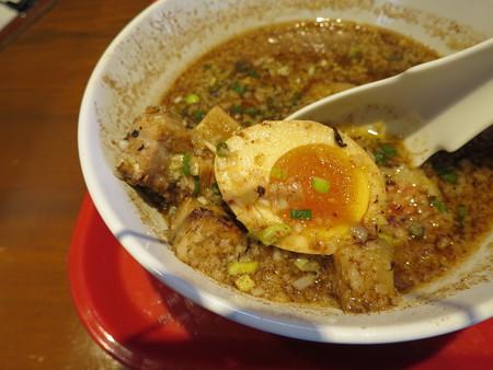 ラーメンダイナーGOGO宝来軒 トクつけ麺 魚介醤油(冷、並) 具材の様子