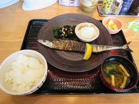 大戸屋 上越大日店 釧路沖 生さんまの炭火焼き定食(期間限定)(白米)¥898
