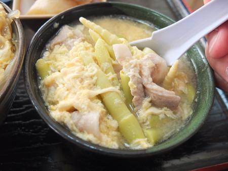 七福食堂 山竹汁 具材の様子