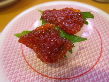 かっぱ寿司 上越店 紅筋子¥108