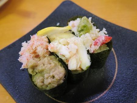 かっぱ寿司 上越店 かに3種食べ比べ軍艦【特選逸品】¥194