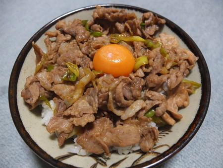 自宅ですた丼(肉1.5倍盛り)