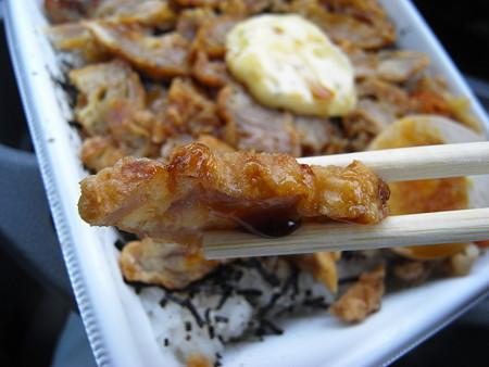 セブンイレブン 鶏唐揚げタルタル弁当 鶏唐揚げアップ