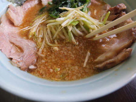 ラーメンショップ 福橋店 ネギチャーシューつけ麺 並盛 スープアップ