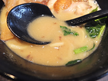 鶏がら屋 コク玉鶏らー麺 スープアップ