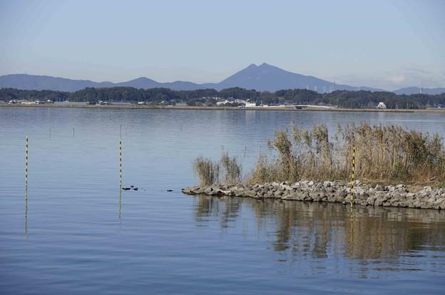 霞ヶ浦からの筑波山