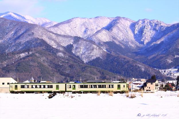 写真: 飯山線雪景色 (1)
