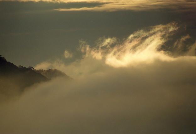 写真: 朝雲光る