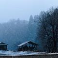 Photos: 山間の雪