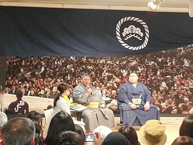 大相撲展!東急百貨店に嘉風と矢後(北海道出身)1