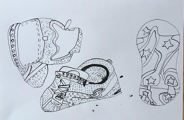 靴を描こう