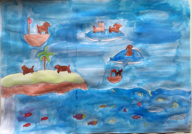 海の世界を描こう1-1