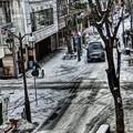 写真: 雪のパセオ通り