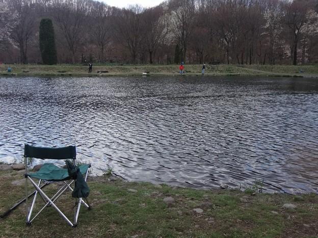 釣り場の椅子