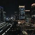 写真: 東京駅の夜景