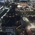 写真: 東京駅丸の内駅舎の夜