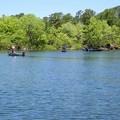 桧原湖の釣り舟
