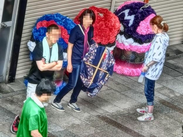七夕飾りのボランティア