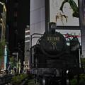新橋駅の蒸気機関車