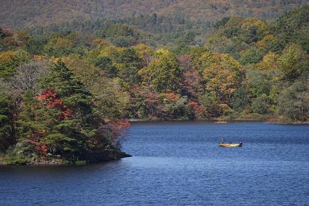 小野川湖の釣りボート