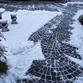 庭の雪掃き