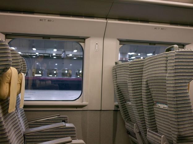 東北新幹線車内にて