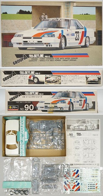 FUJIMI T.C.90 1/24 SCALE GROUP A New-man SKYLINE RS-C