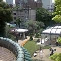 Photos: 2階から庭の人前式会場を見る