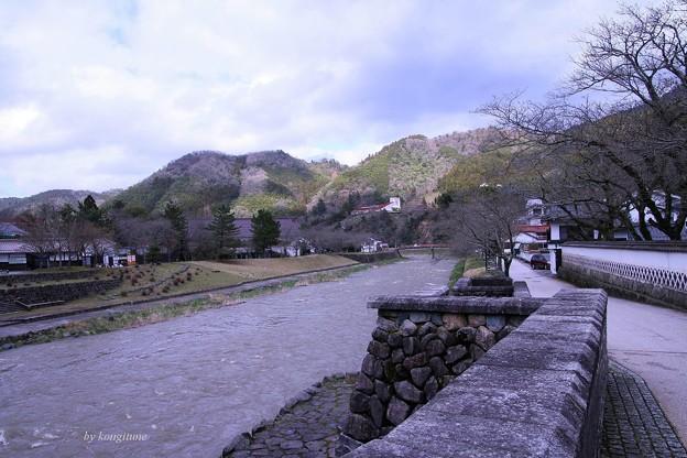 写真: 津和野川