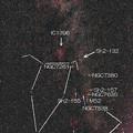 写真: NGC281とM103の位置