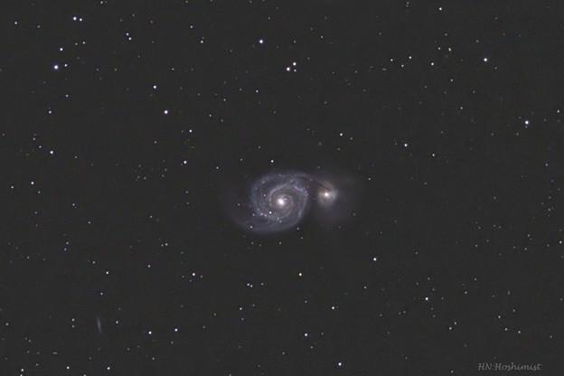 M51子持ち銀河 20180207