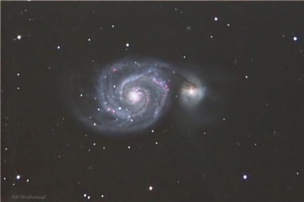 20180216 M51 子持ち銀河