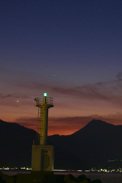 金星と水星-クローズアップ