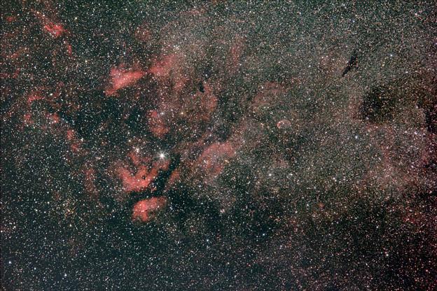 中秋に三日月星雲