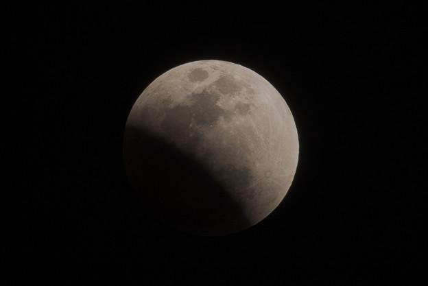 皆既月食前