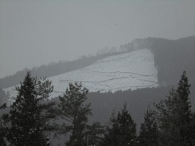 2月2日「山の雪」