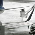 写真: 翼面凍結防止処理