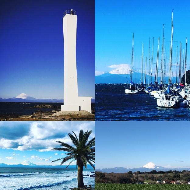 富士山と空