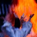 写真: 火焚き神事♪