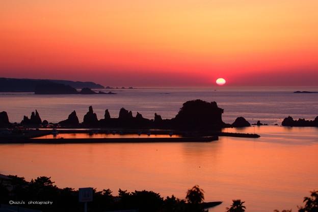 橋杭岩の夜明け♪
