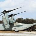 日米共同訓練王城寺原演習場 オスプレイでの空中機動訓練公開